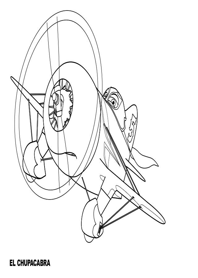 El chupacabra aunque pixar nos lo disfrace de avion mexicano, es un clasico estadounidense de las carreras de los años 30, es un avion pequeño.
