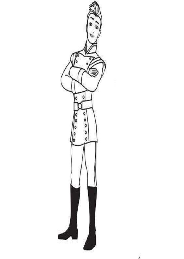 Gabe es un joven promesa de la Guardia Real, muy amigo de Elena.