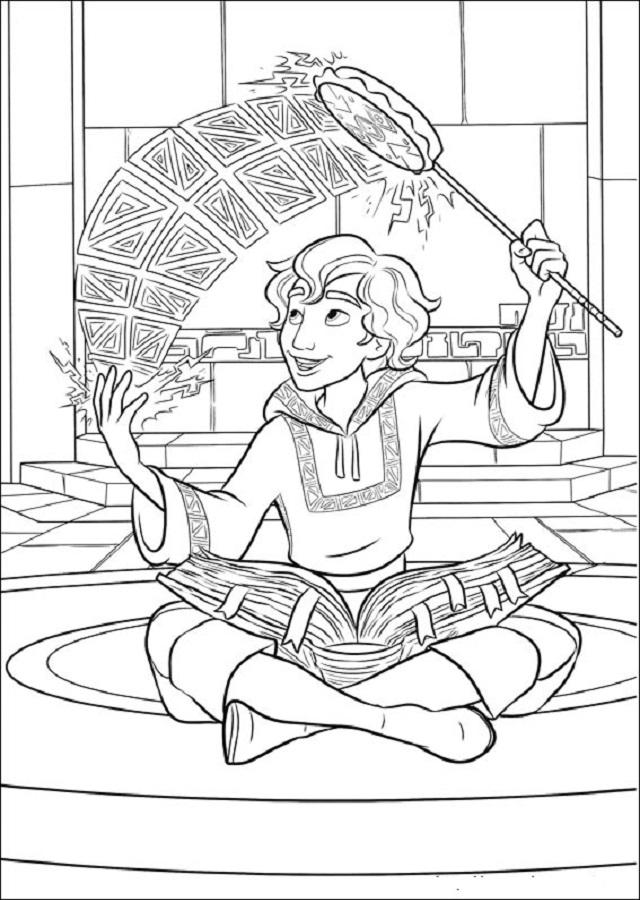 Mateo es un aprendiz de hechicero, muy amigo de Elena.