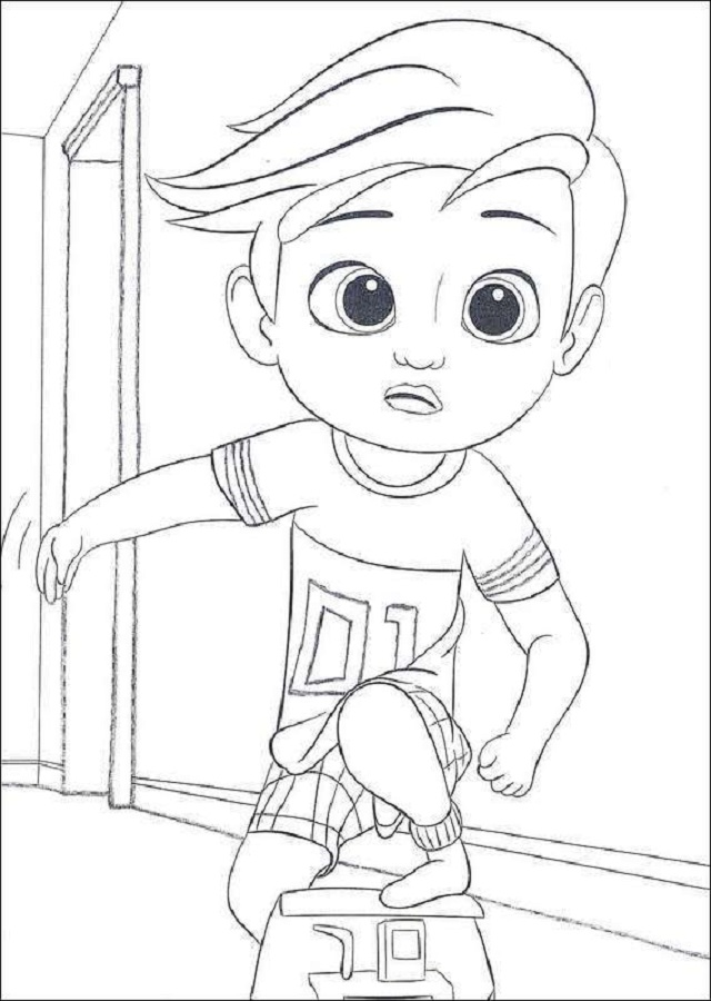 ▷El Bebé Jefazo - Dibujos para colorear
