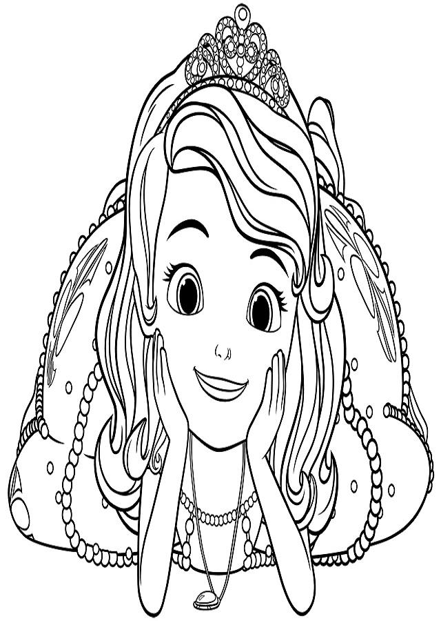 Sofia es una niña con el fondo de un plebeyo, hasta que su madre se casa con el rey de su reino y de repente se convierte en princesa. Sofía se entera de que ser princesa no es tan difícil, y debe aprender a comportarse como le diga su corazón. Es una joven hermosa con el cabello castaño con un estilo ondulado. Tiene grandes ojos azules y piel clara. Su vestido es de color lila y viene con una corona de cristal. Alrededor de su cuello, ella usa un amuleto de la familia real llamada el Amuleto de Avalor, que le permite el poder de hablar con los animales. Es guapa y hermosa, pero también es torpe.