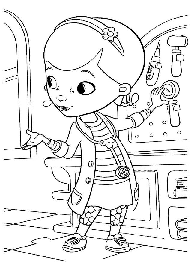 La Doctora Juguetes Dibujos Para Colorear