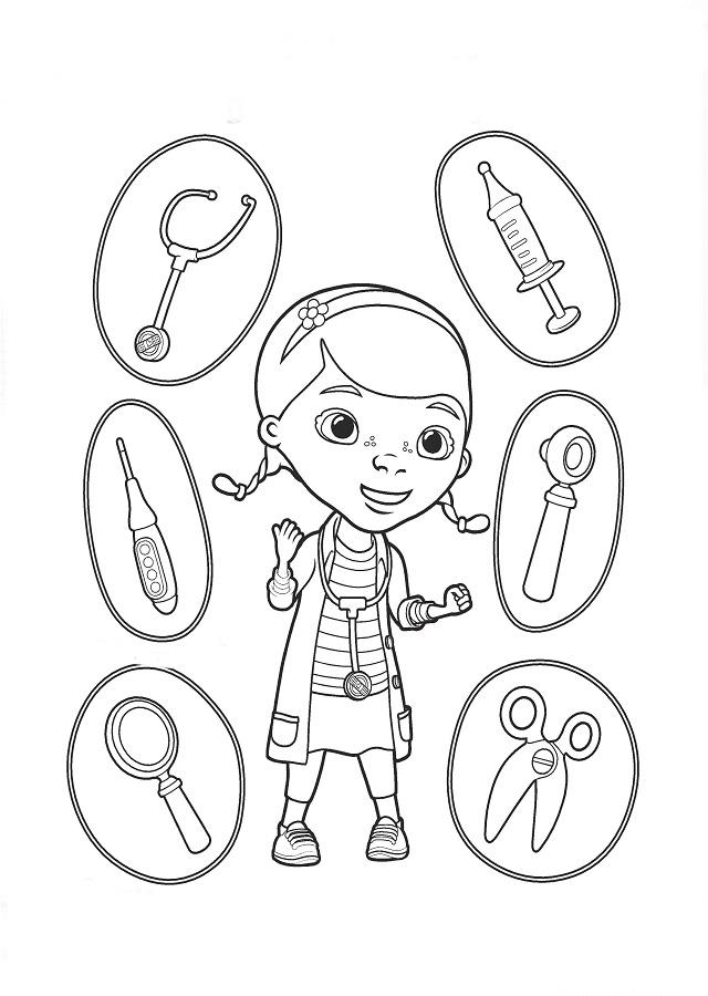 💠La Doctora Juguetes - Dibujos para colorear