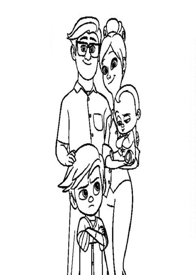 el-bebe-jefazo-familia-templeton-colorear - Dibujos para colorear