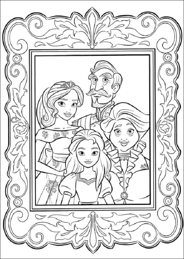 familia-avalor - Dibujos para colorear