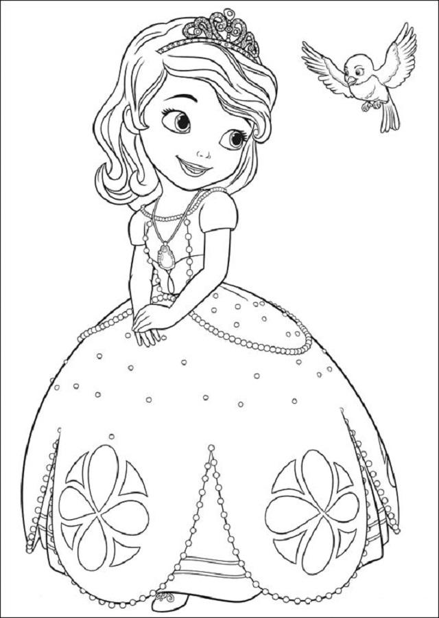 dibujo para colorear princesa sofia