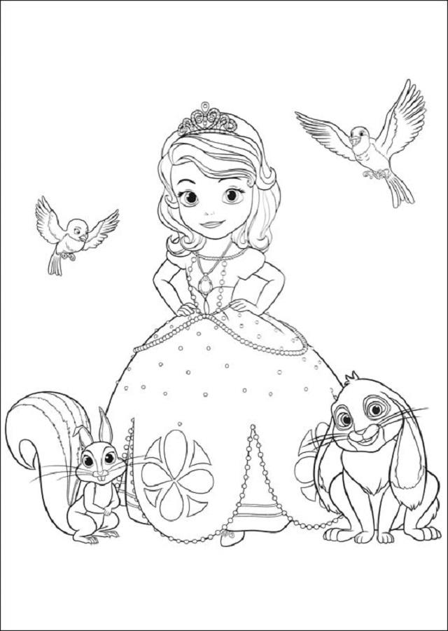 princesa sofia para imprimir - Dibujos para colorear