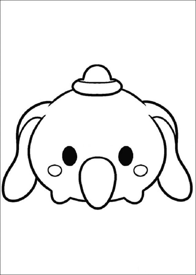 tsum-tsum-dumbo - Dibujos para colorear