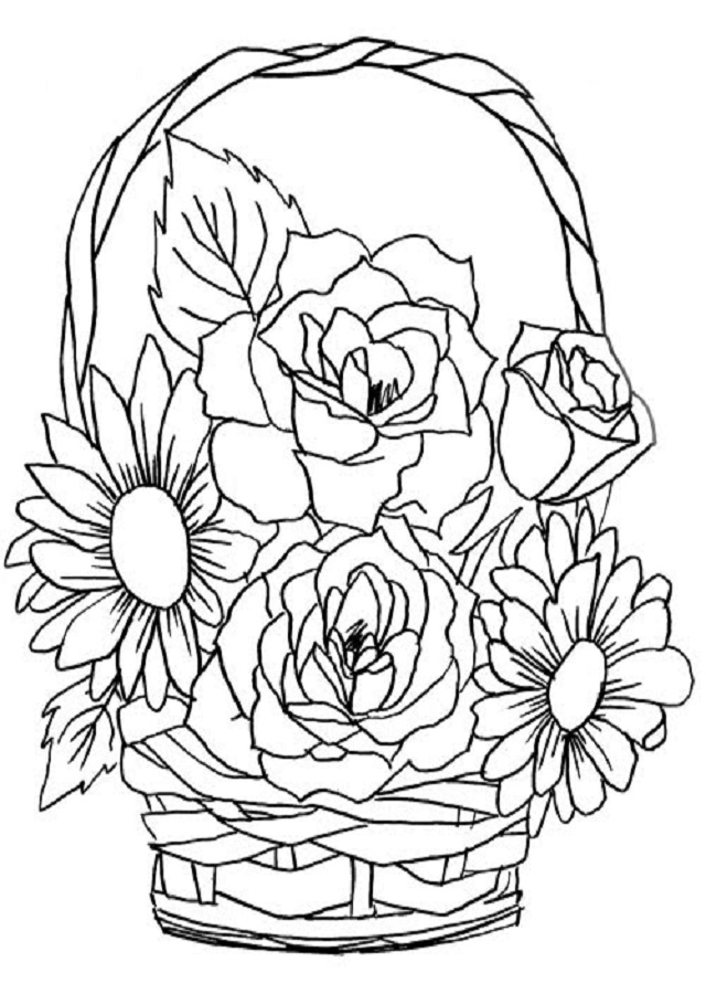▷Flores para colorear - Dibujos para colorear