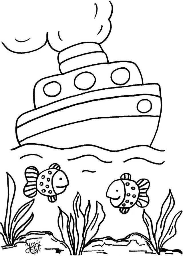 Mar Dibujos Para Colorear