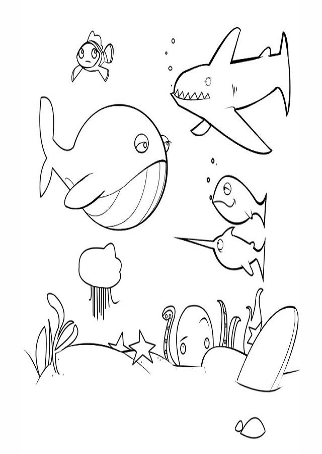 ▷mar - Dibujos para colorear