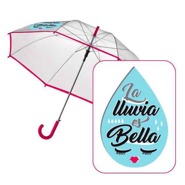 ✅Comprar Paraguas automatico transparente Baggy Lluvia Bella ...