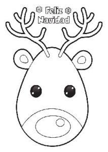 Reno De Navidad Para Colorear Y Para Imprimir Dibujos Para Colorear