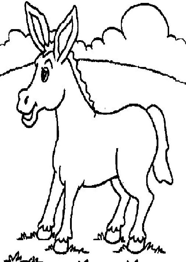 burro colorear - Dibujos para colorear