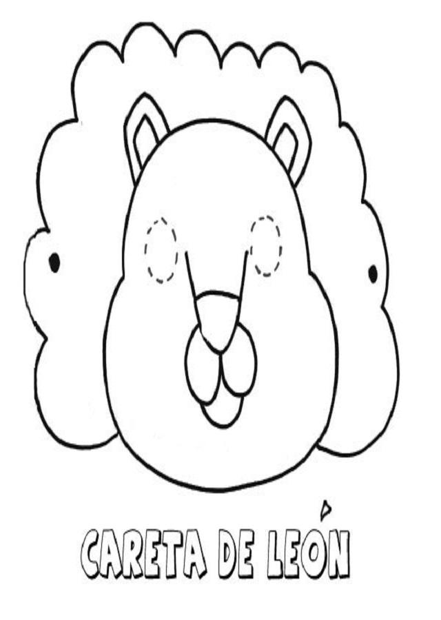 careta-de-leon-dibujos-para-colorear-con-los-ninos - Dibujos para ...