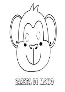 Careta De Mono Dibujos Para Colorear Con Los Ninos Dibujos Para