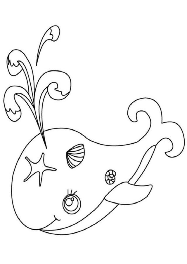 dibujo ballena para imprimir y colorear