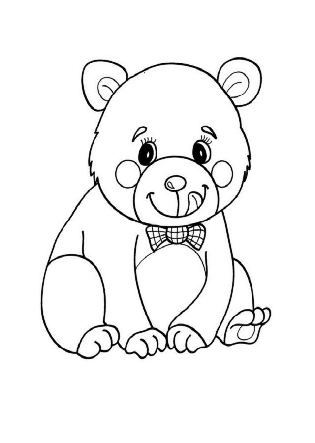dibujo-oso-para-pintar - Dibujos para colorear