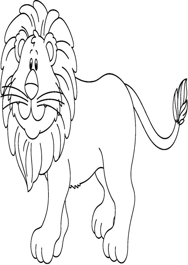 dibujo para colorear leon