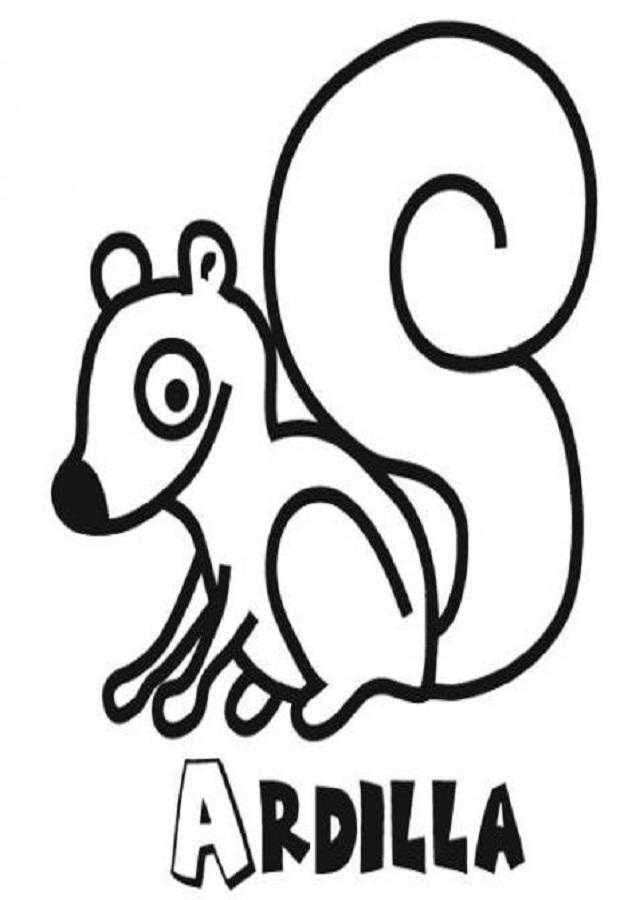 dibujos para colorear de ardillas