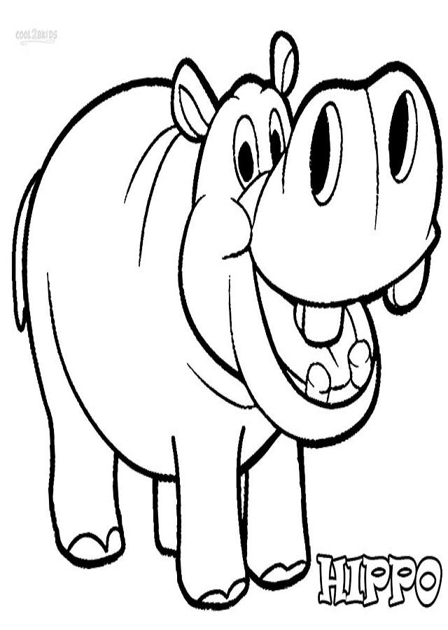 dibujos-de-hipopotamos-para-colorear - Dibujos para colorear