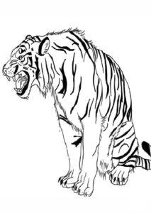 imagen tigre para pintar dibujos para colorear