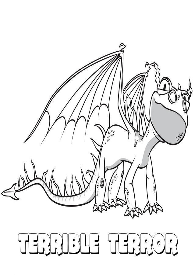 dibujo dragón para imprimir y colorear