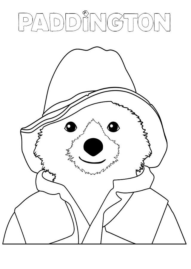 dibujo para colorear oso Paddington