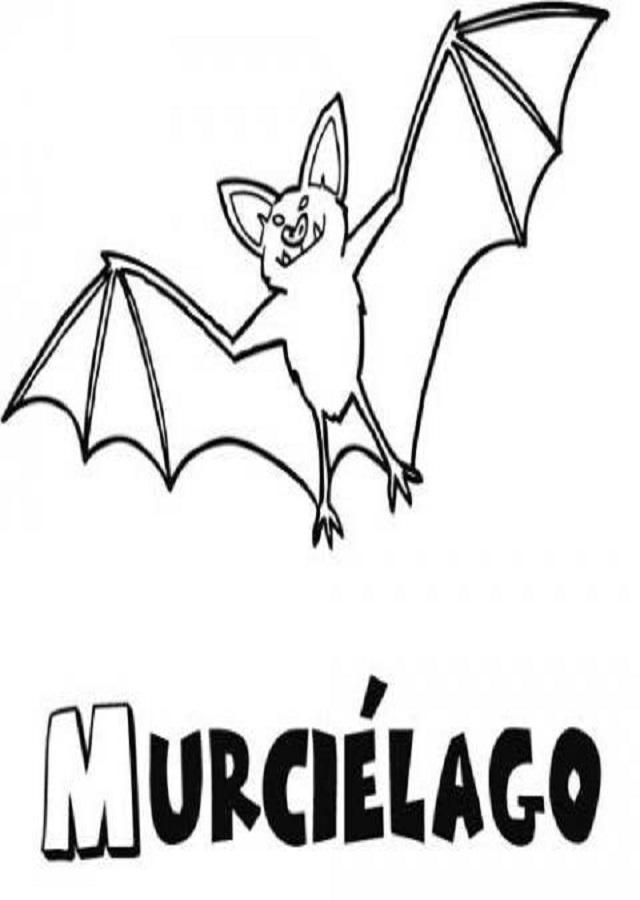 Murcielagos para colorear dibujos para colorear - Murcielago para imprimir ...