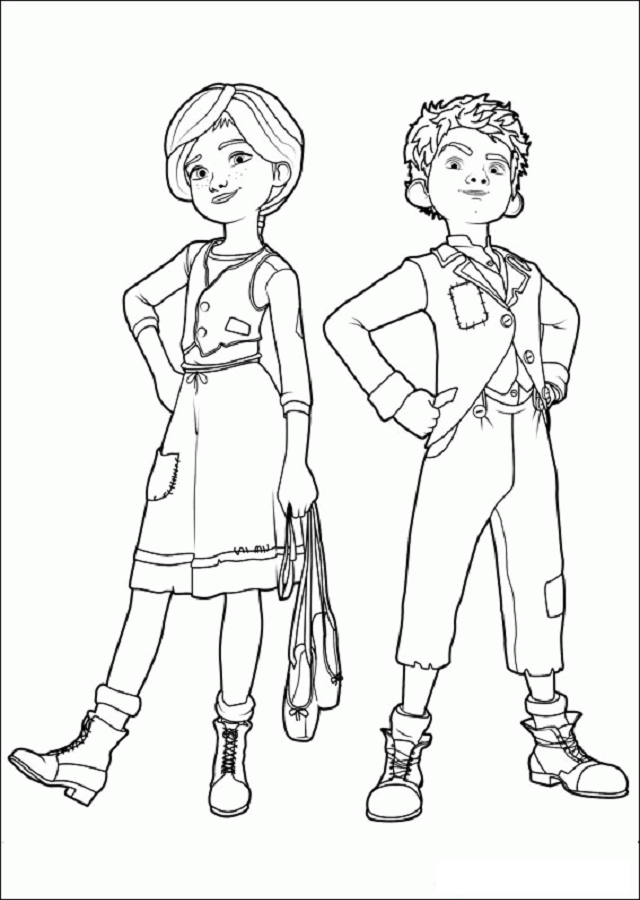 felicia-y-victor-pelicula-ballerina - Dibujos para colorear