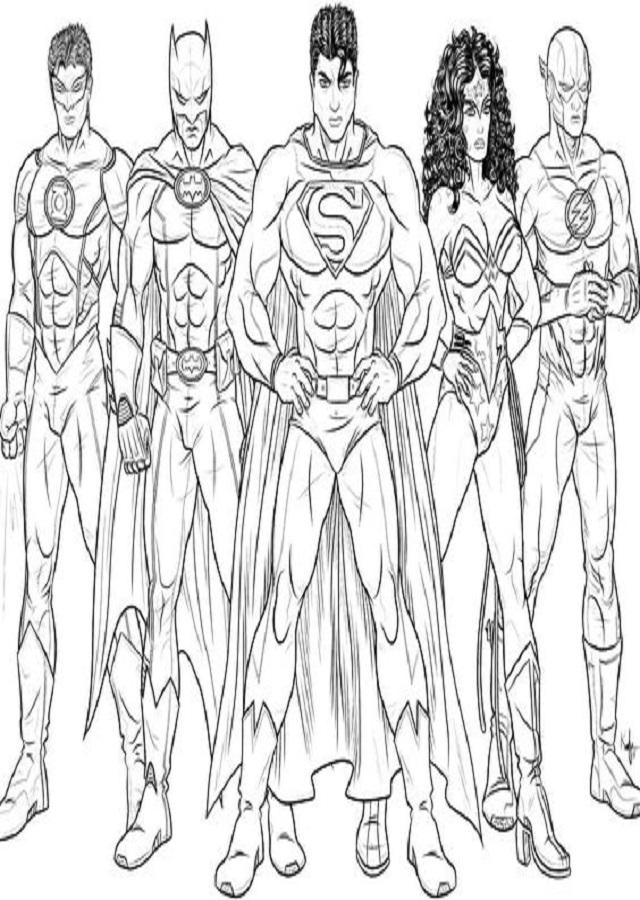 superheroes-de-liga-de-la-justicia-para-colorear