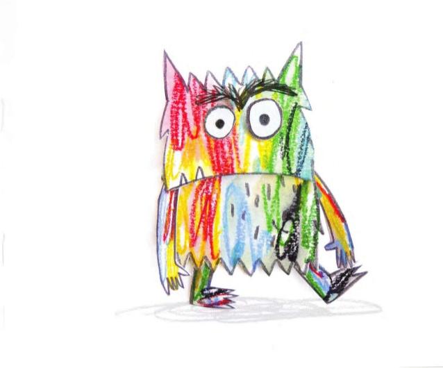 💠Dibujos para colorear Monstruo de los colores - Dibujos para colorear
