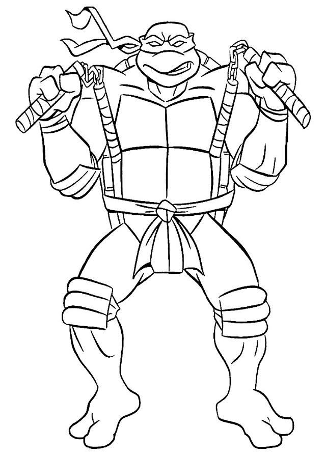 💠Tortugas Ninja para colorear - Dibujos para colorear