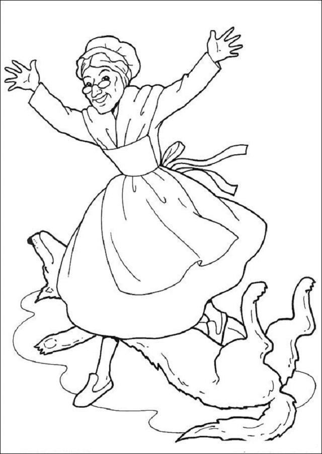 💠Dibujos para colorear Caperucita Roja - Dibujos para colorear