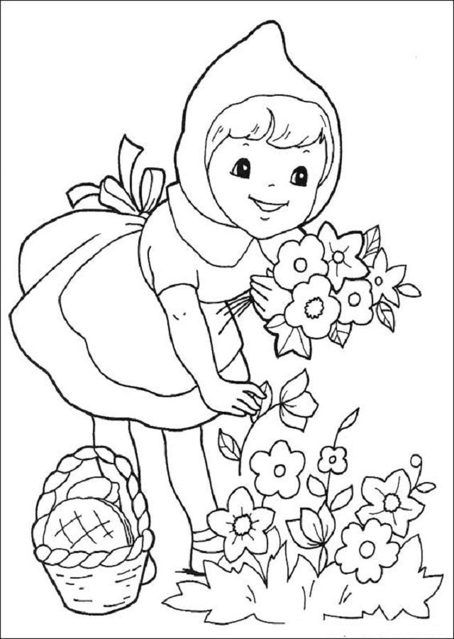 dibujo-caperucita-roja-colorear - Dibujos para colorear