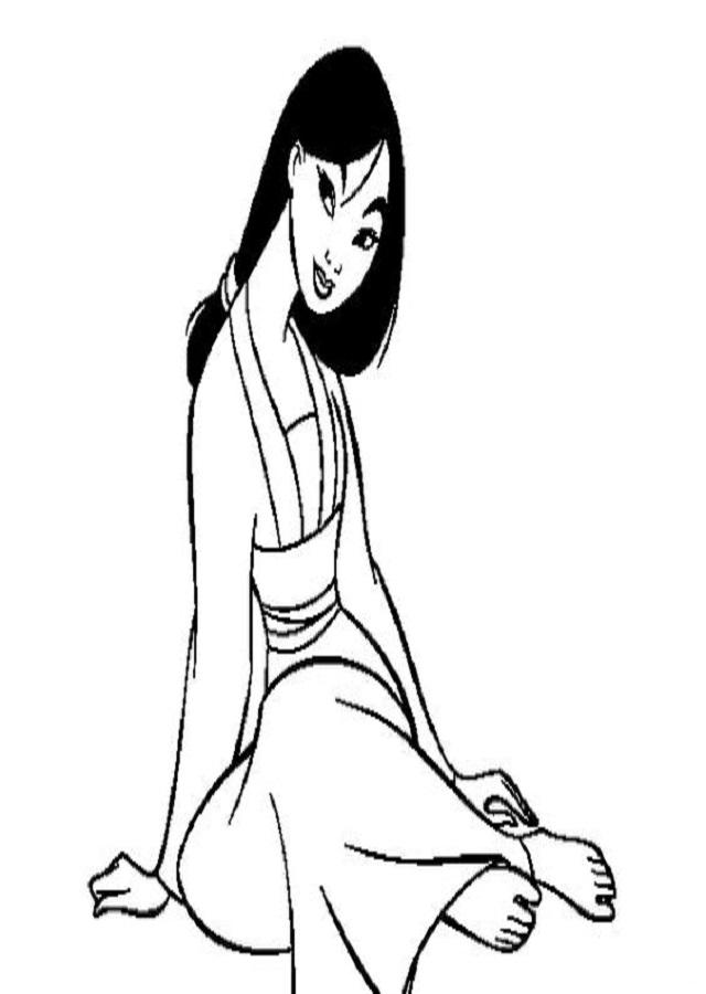 💠Dibujos de Mulán - Dibujos para colorear