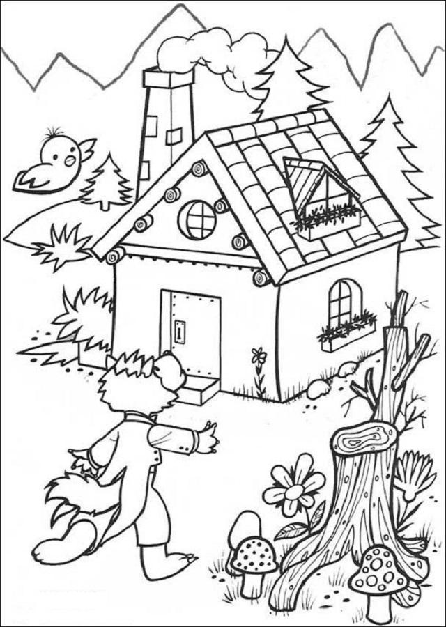 Dibujos Para Colorear Los Tres Cerditos Dibujos Para Colorear