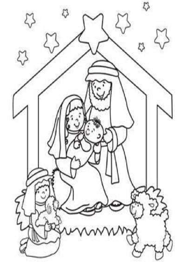dibujos-para-colorear-del-nacimiento-de-jesus - Dibujos para colorear