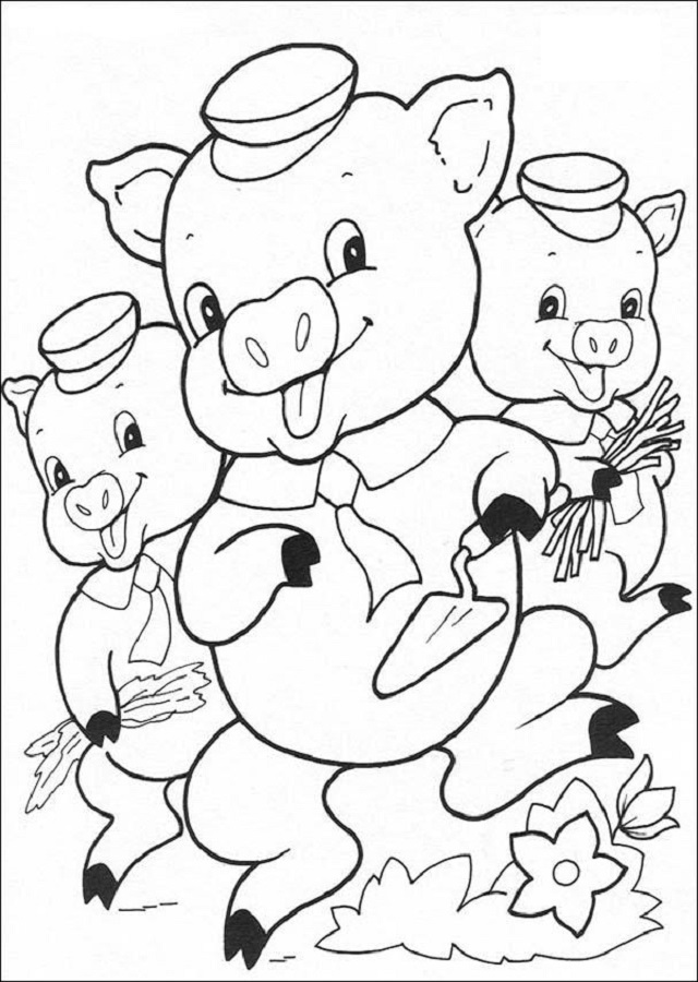 Dibujos Para Colorear Los Tres Cerditos Dibujos Para