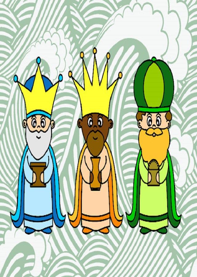 Dibujos de navidad de los reyes