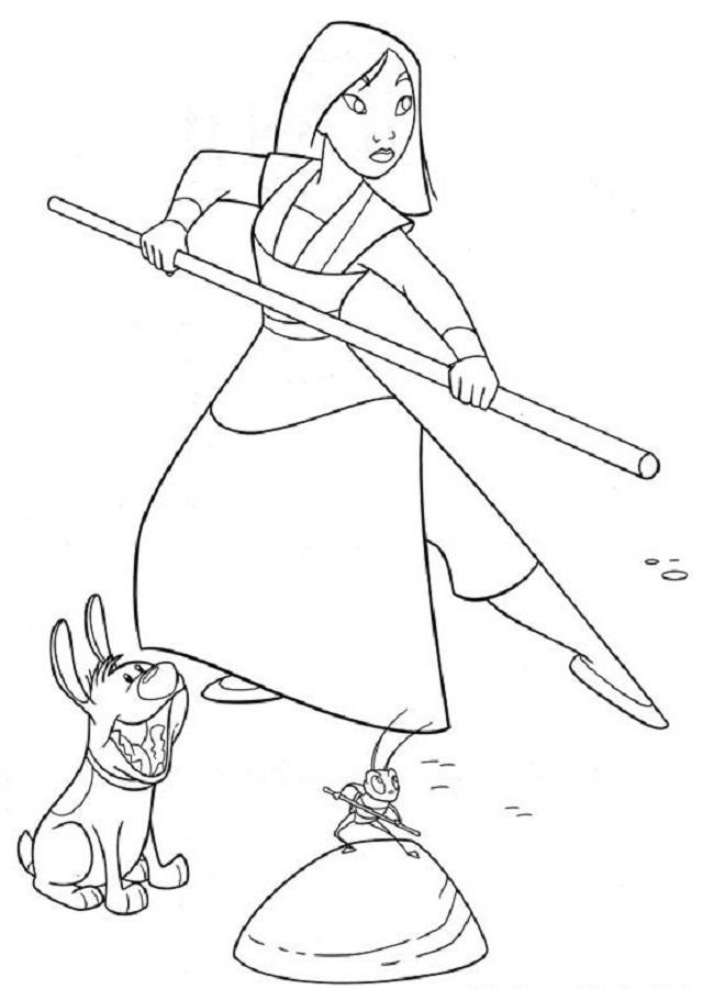 Hermanito es el perro de Mulán. Él ayuda a Mulán en sus tareas, llevando encima de él la comida para las gallinas. En Mulan II, ayuda a las niñas a luchar y juega con ellas.