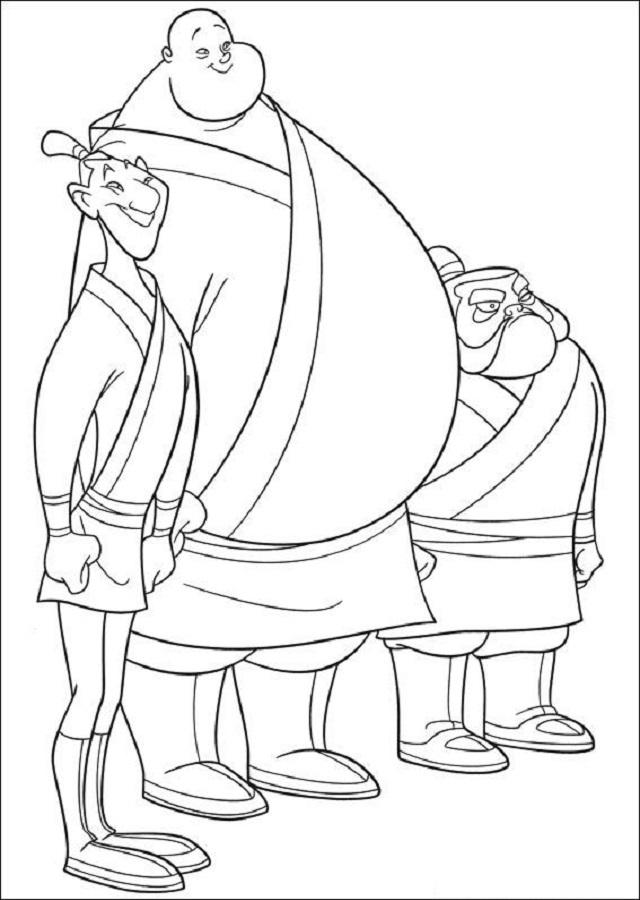 Yao, Ling y Chien Po son tres soldados de la armada China y personajes secundarios en el largometraje animado de Disney de 1998, Mulan y su secuela Mulan II.