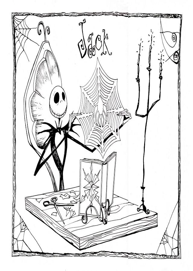 💠Dibujos para colorear Pesadilla antes de Navidad - Dibujos para ...