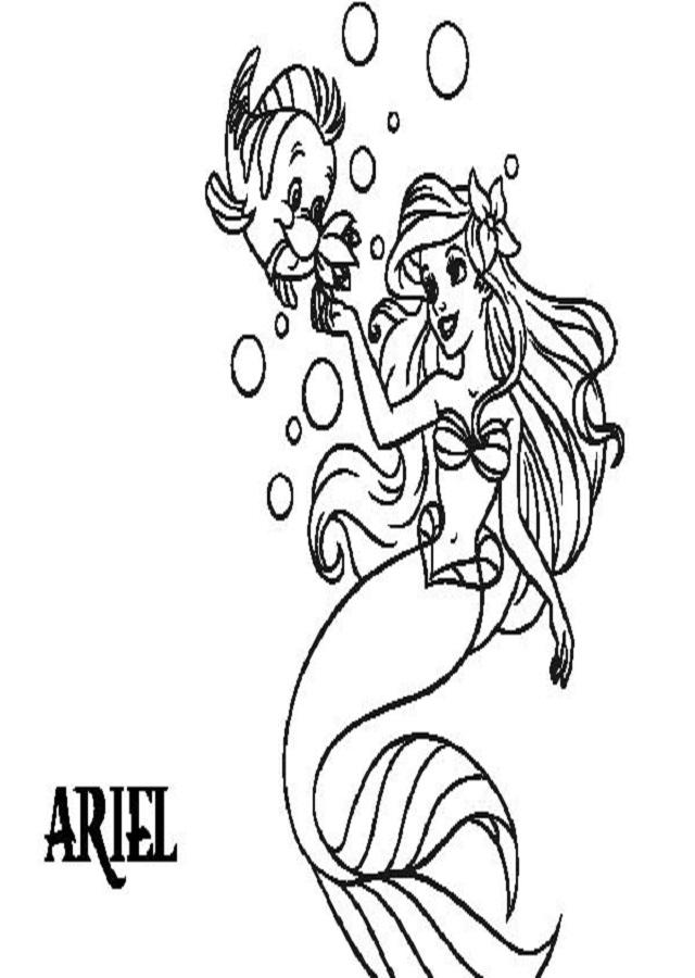 ariel-disney - Dibujos para colorear