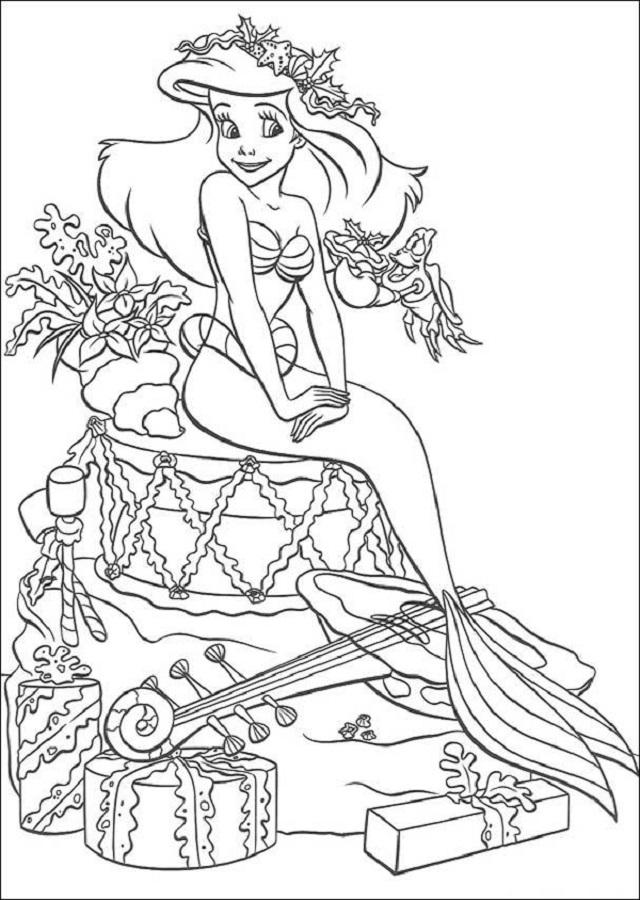 💠Dibujos para colorear la Sirenita - Dibujos para colorear