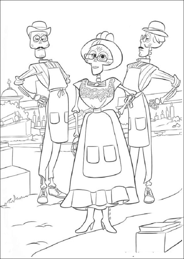 familia-miguel - Dibujos para colorear