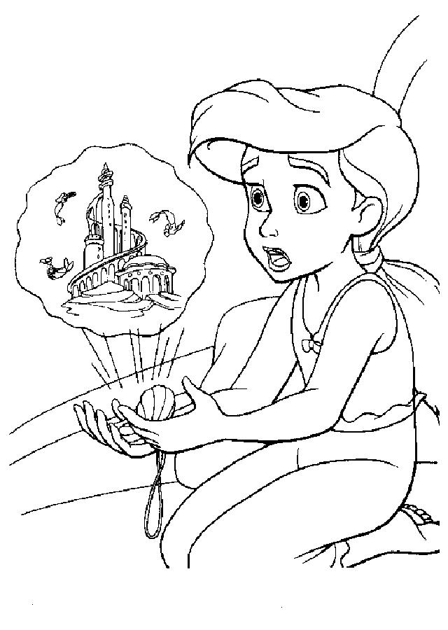 💠 Dibujos para colorear la Sirenita - Dibujosparacolorear.eu