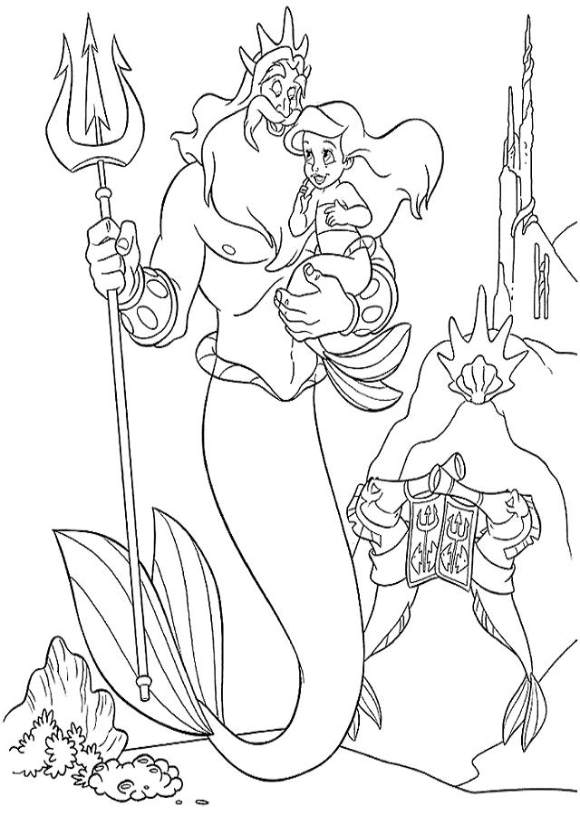 Dibujos para colorear la Sirenita - Dibujos para colorear