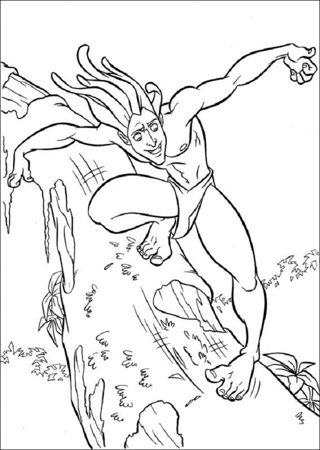 """Tarzán es el protagonista de la película de 1999 Tarzan. Comúnmente conocido como el """"Rey de la Selva"""", Tarzán fue rescatado y criado por una colonia de monos después de que sus padres fueran asesinados por el sanguinario Sabor. A medida que pasaron los años, se convirtió en un hombre simio, protegiendo a todos los simios, y nunca conociendo el mundo exterior, aparte de la selva."""
