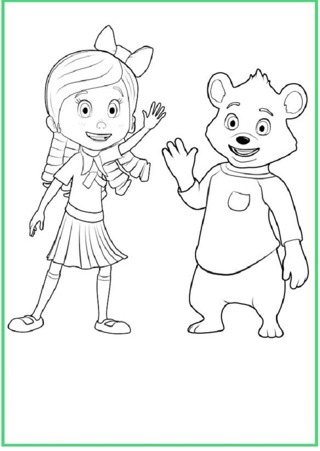 Dibujos Para Colorear Goldie Y Osito Dibujos Para Colorear